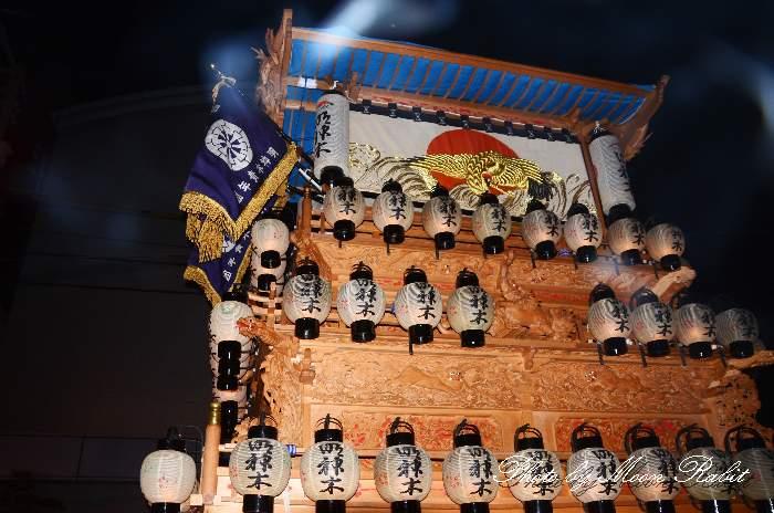 西条駅前 明神木だんじり(屋台・楽車) 西条祭り2012 愛媛県西条市大町