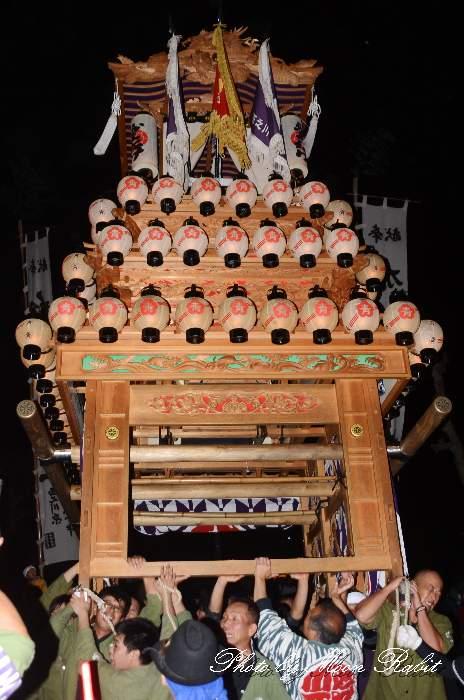 西之川原屋台(西の川原だんじり・楽車) 加茂神社例祭(福武祭り) 愛媛県西条市福武 西条祭り2012