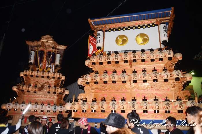 石岡神社祭礼前夜祭 上之川だんじり(上の川屋台・楽車) 愛媛県西条市氷見