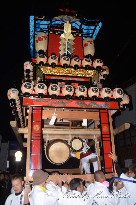 石岡神社祭礼前夜祭 新町だんじり(屋台・楽車) 愛媛県西条市氷見