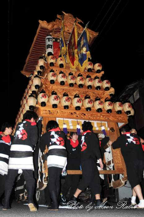 石岡神社祭礼前夜祭 下町だんじり(屋台・楽車) 愛媛県西条市氷見