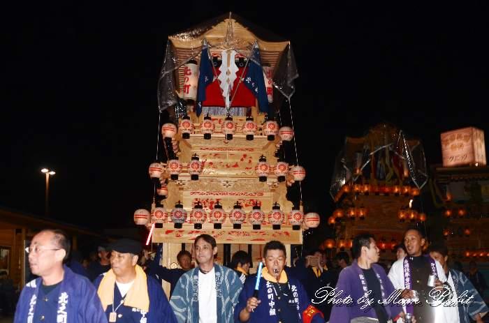 北之町中組屋台(だんじり・楽車) 前夜祭 西条駅前 愛媛県西条市大町 西条祭り2012