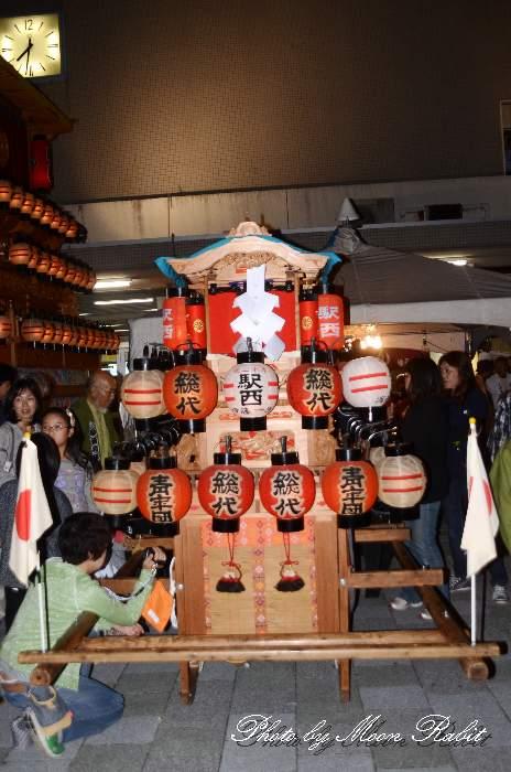 駅西子供だんじり(屋台) 前夜祭 西条駅前 愛媛県西条市大町 西条祭り2012