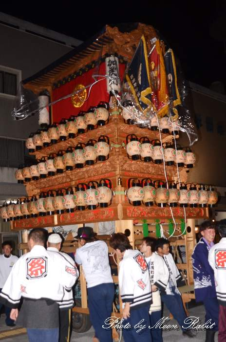 加茂町屋台(だんじり・楽車) 前夜祭 西条駅前 愛媛県西条市大町 西条祭り2012