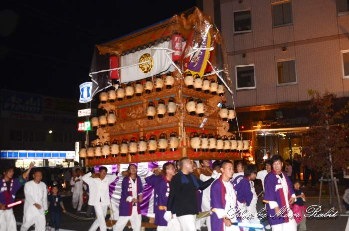 川原町屋台(だんじり・楽車) 前夜祭 西条駅前 愛媛県西条市大町 西条祭り2012