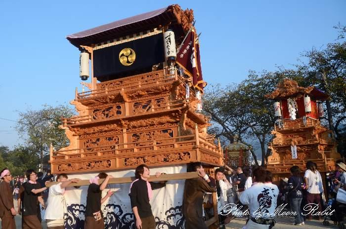 末長屋台(だんじり・楽車) 石岡神社祭礼宮入り2012 愛媛県西条市氷見