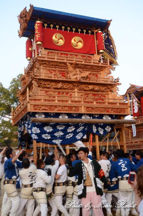 宮之下だんじり(宮の下屋台・楽車) 石岡神社祭礼宮入り2012 愛媛県西条市氷見