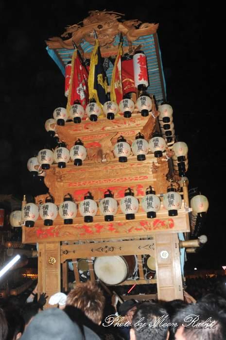西条祭り2012 横黒だんじり(屋台・楽車) 御旅所 伊曽乃神社祭礼 愛媛県西条市