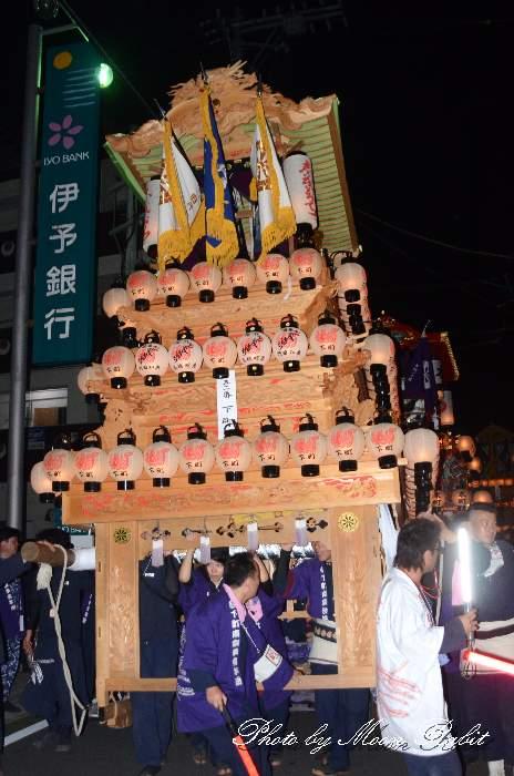 下町南屋台(だんじり) 愛媛県西条市大町北の丁下 西条祭り2012