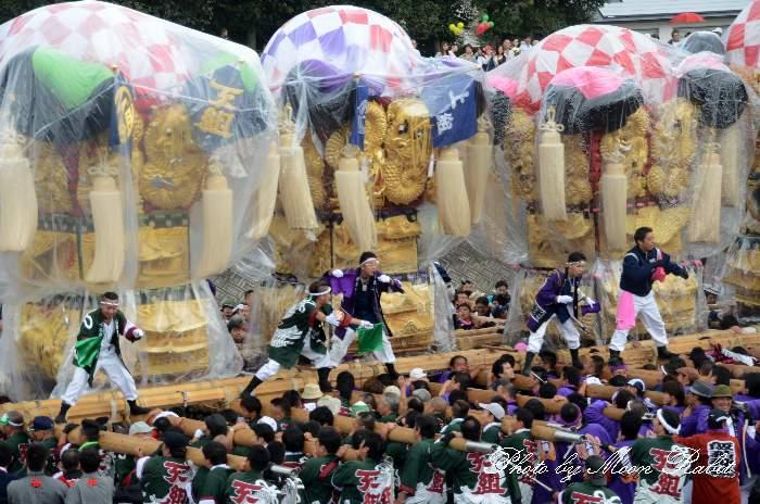 渦井川原かきくらべ 下島山上組太鼓台 飯積神社祭礼2012 愛媛県西条市