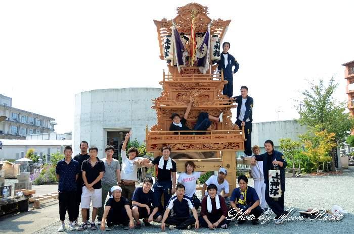 上神拝だんじり(屋台) 組み立て 愛媛県西条市上神拝 西条祭り2013