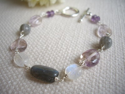 labradorite multi color bracelet