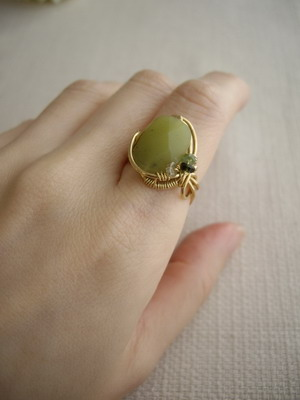 ring wearing sample