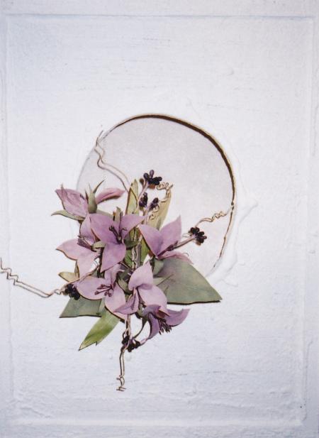 ブログ白いフレームの花