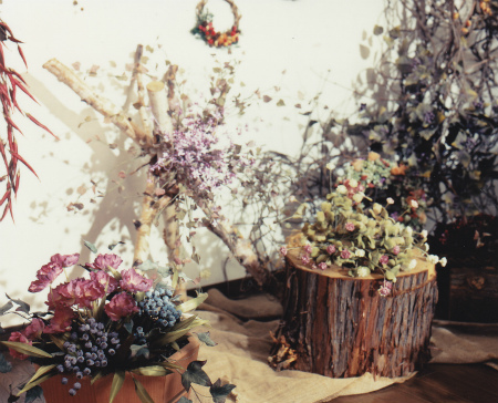 ブログ森の中の布花3