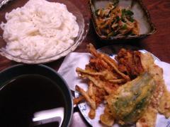 素麺と天ぷら 001