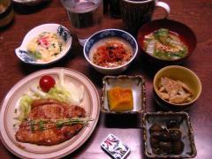 豚味噌漬けと牛蒡サラダ 001