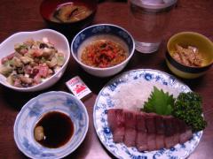 ブリ刺身と牛蒡サラダ 002