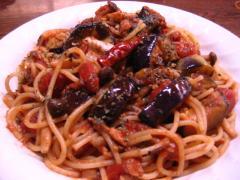 さば味噌茄子トマトパスタ 001