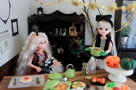 リカ姉妹 ハロウィンパーティー (13)