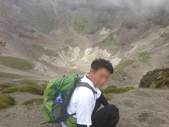 高千穂登山-07御鉢火口1