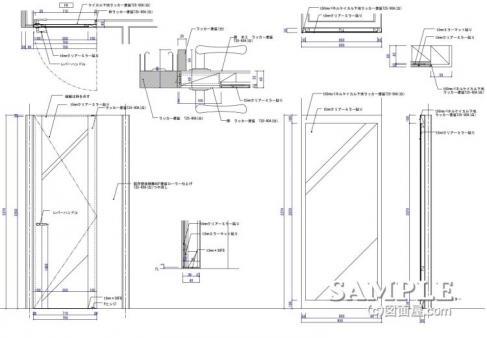 mens_011FR建具とミラーパネル図