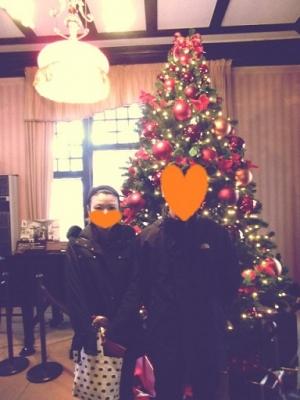 風見鶏の館のクリスマスツリー。