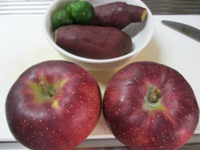 リンゴ、芋、シークワーサー