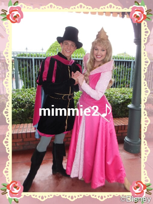 オーロラ姫とフィリップ王子のツーショット♪