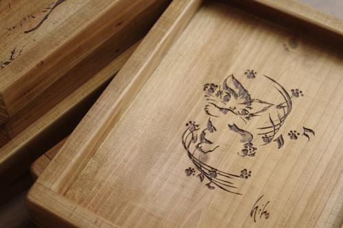 オリジナルデザイン木製トレー