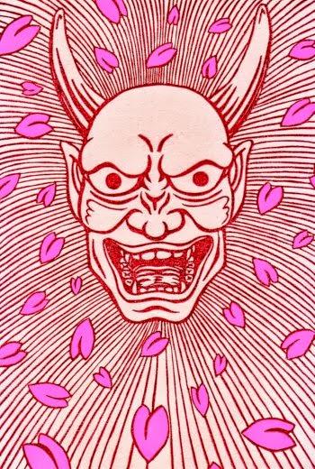 桜の鬼はんこ レッド