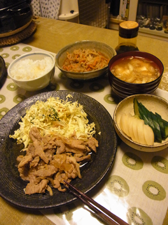 5豚の生姜焼き定食