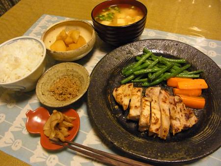 9鶏モモ塩麹焼き定食