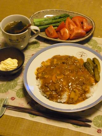 1ハヤシライス定食