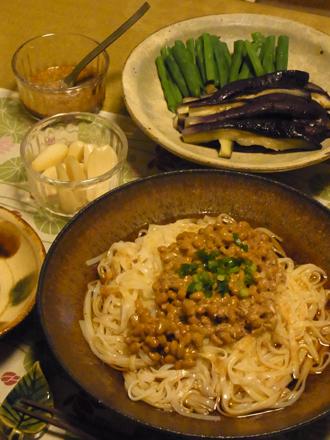 7冷やし納豆稲庭うどん定食