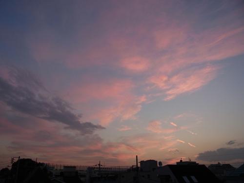 2013年10月30日の夕焼け