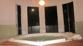月と貸切風呂