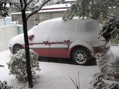 昼過ぎの雪模様