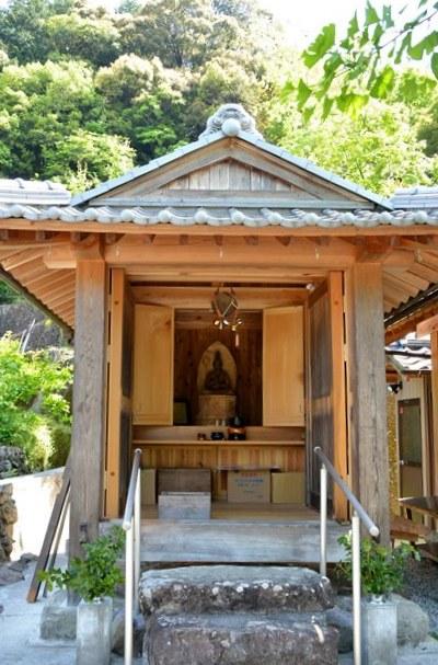 笹野大日堂での祀られている様子