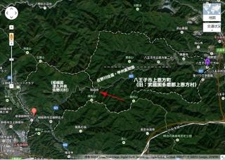 旧上恩方村の位置