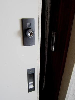 室内引戸 鍵の取付け