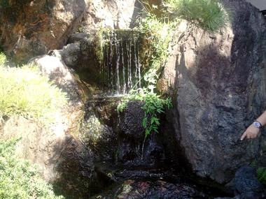 小さな滝♪