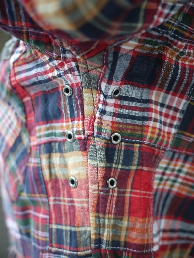 MFS-1809/パッチワークモトシャツ