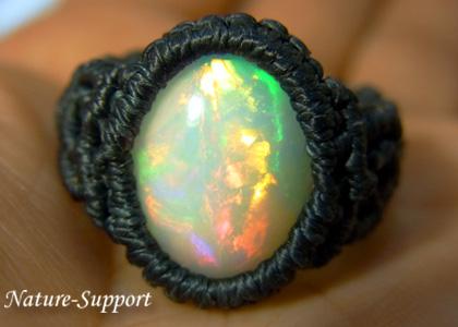 マクラメ編み 巻き結び指輪