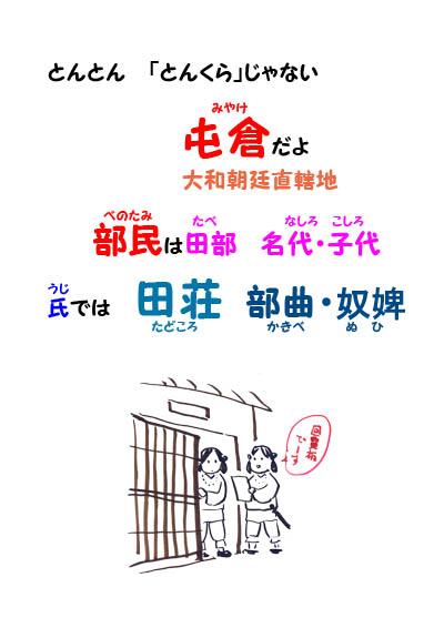 大和朝廷と氏の直轄地と直轄民を覚える - 替え歌で覚える日本史