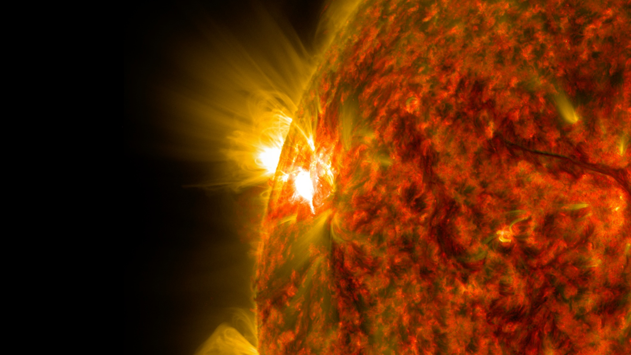 M7.9クラスの中規模太陽フレアが発生!NASA画像公開