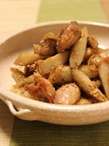鶏ごぼう味噌炒め1