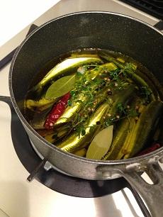 オイルサーディン鍋