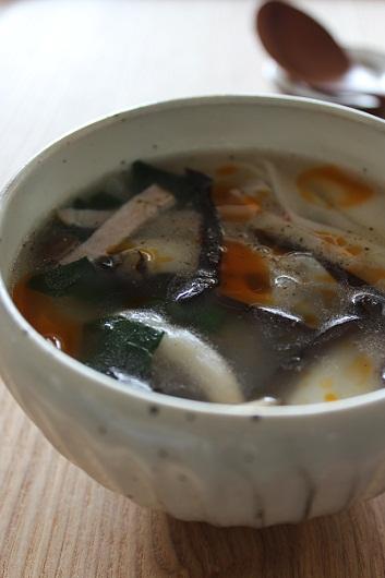 わんたんの皮スープ1