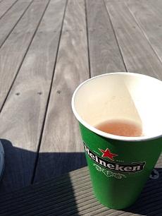 江の島でビール